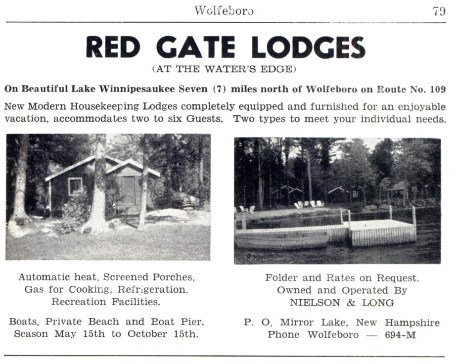Red Gate Lodges - Wolfeboro NH 1953