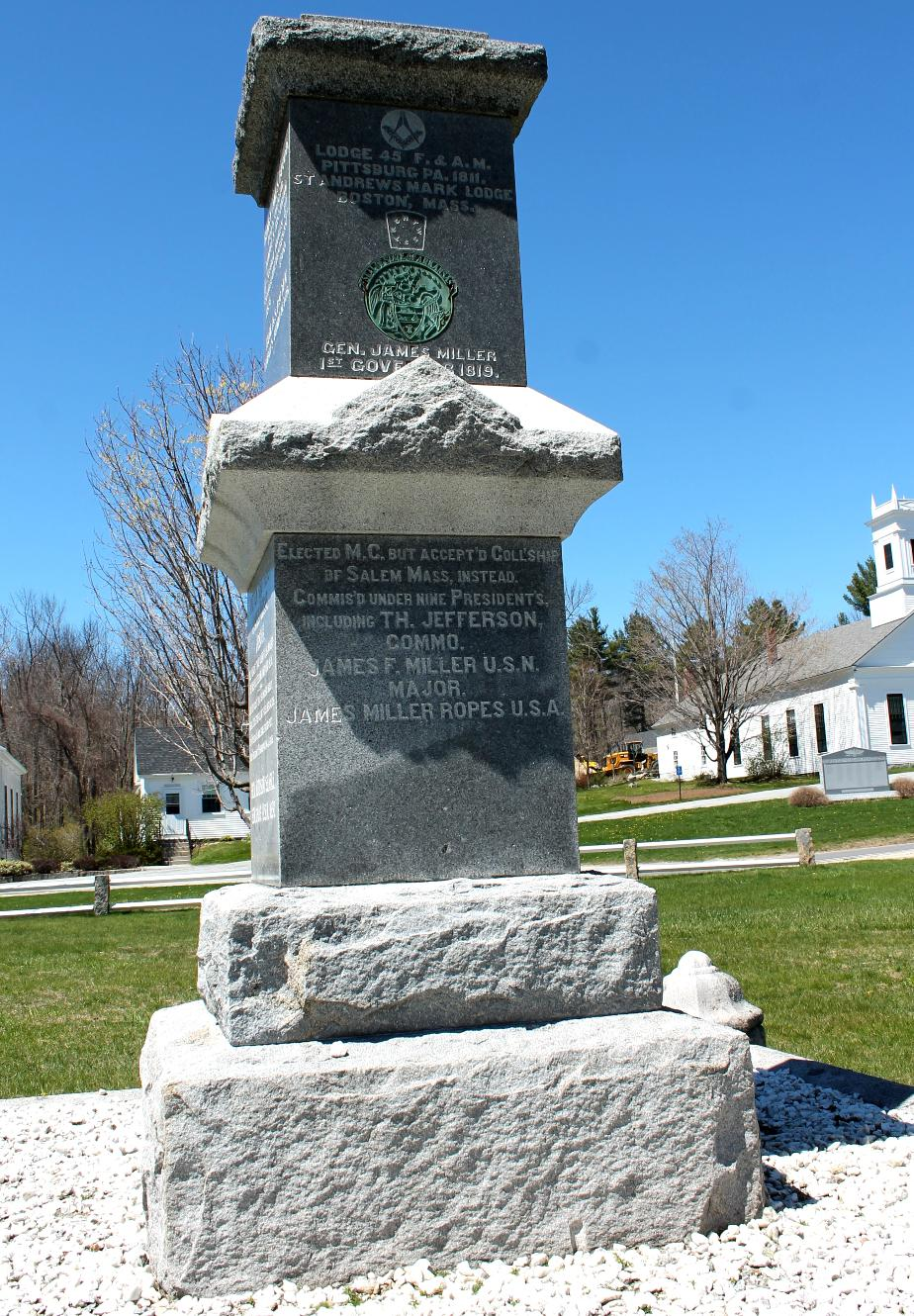 General James Miller Monument - Temple NH