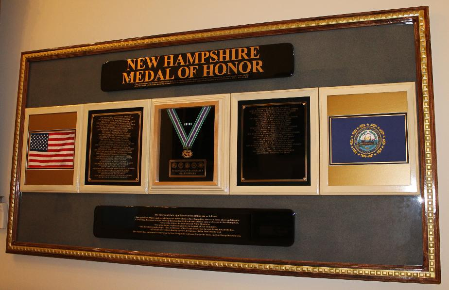 NH Medal of Honor State House Display