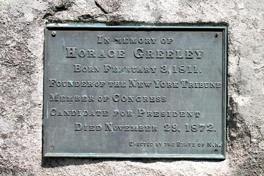 Horace Greeley Birthplace Marker Rock