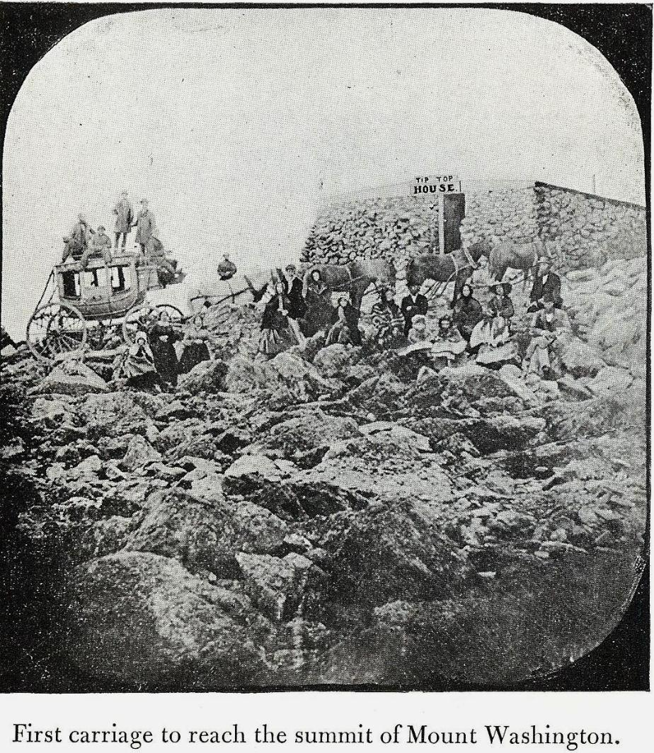 First Carriage on Summit of Mount Washington