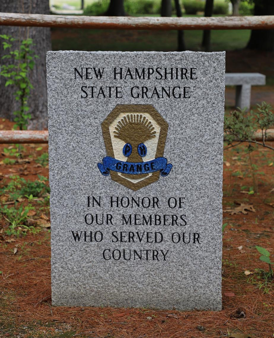 NH State Veterans Cemetery - New Hampshire State Grange Memorial