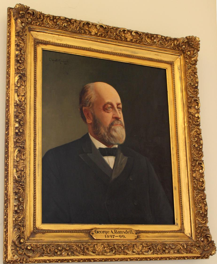 Governor George A Ramsdell NH State House Portrait