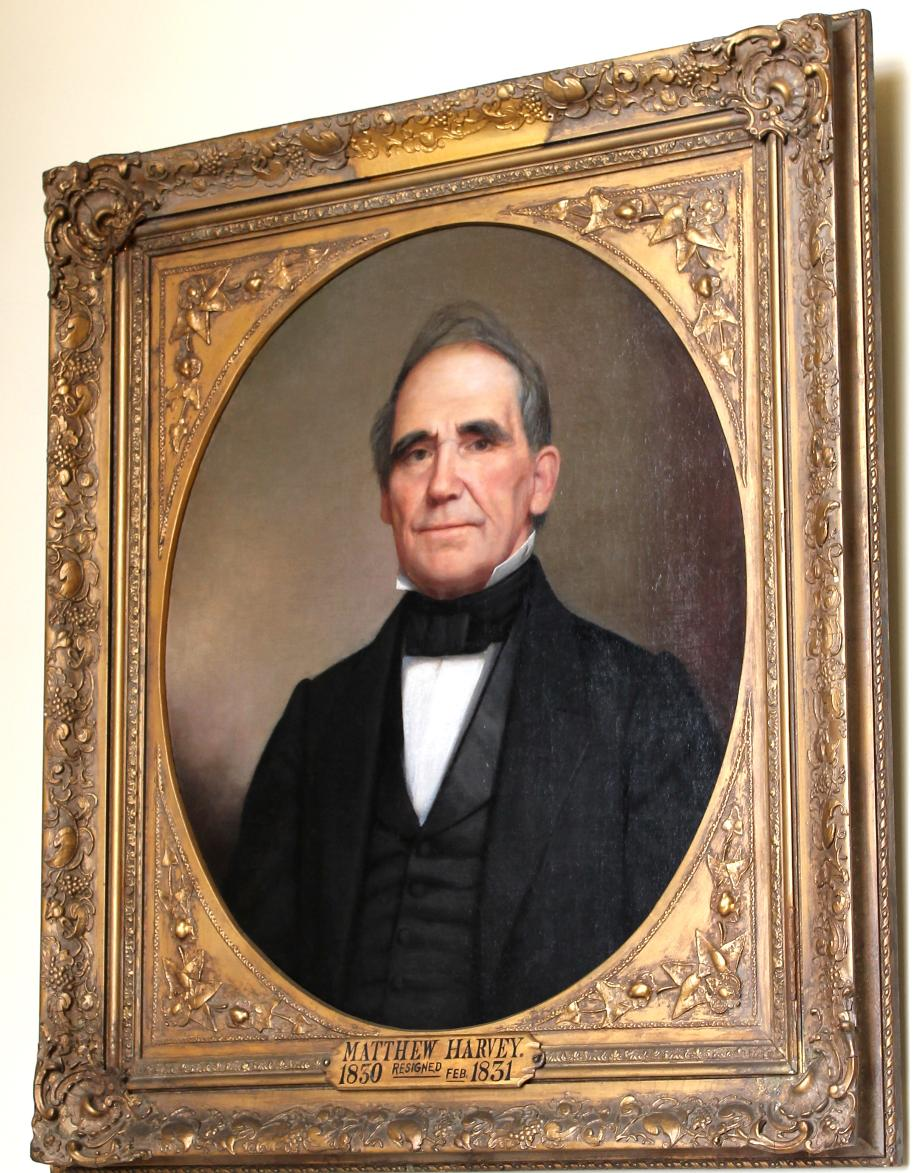 NH Governor Matthew Harvey, NH State House Portrait