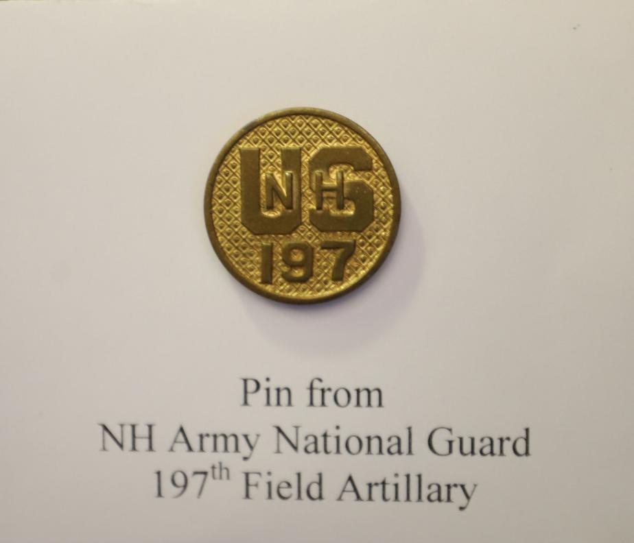 NH State Veterans Cemetery National Guard Pin