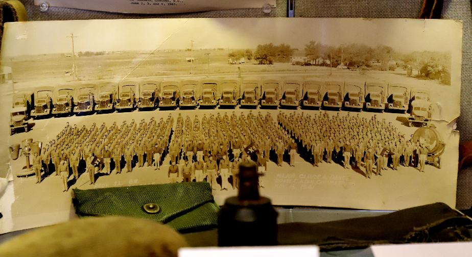 NH State Veterans Cemetery Display Case - Army Photo
