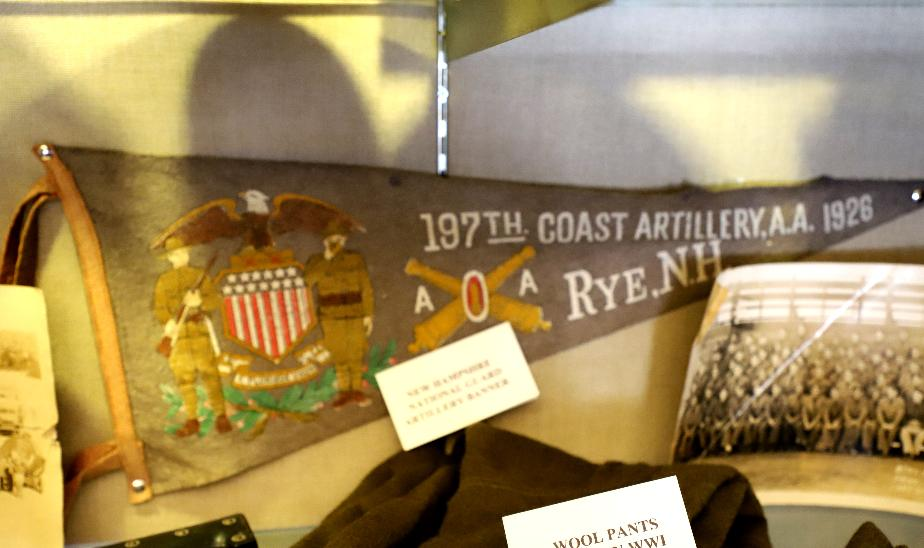 NH State Veterans Cemetery Display Case - Rye NH Coastal Artillery
