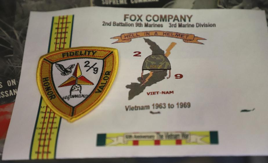 NH State Veterans Cemetery Display Case - Fox Company Vietnam