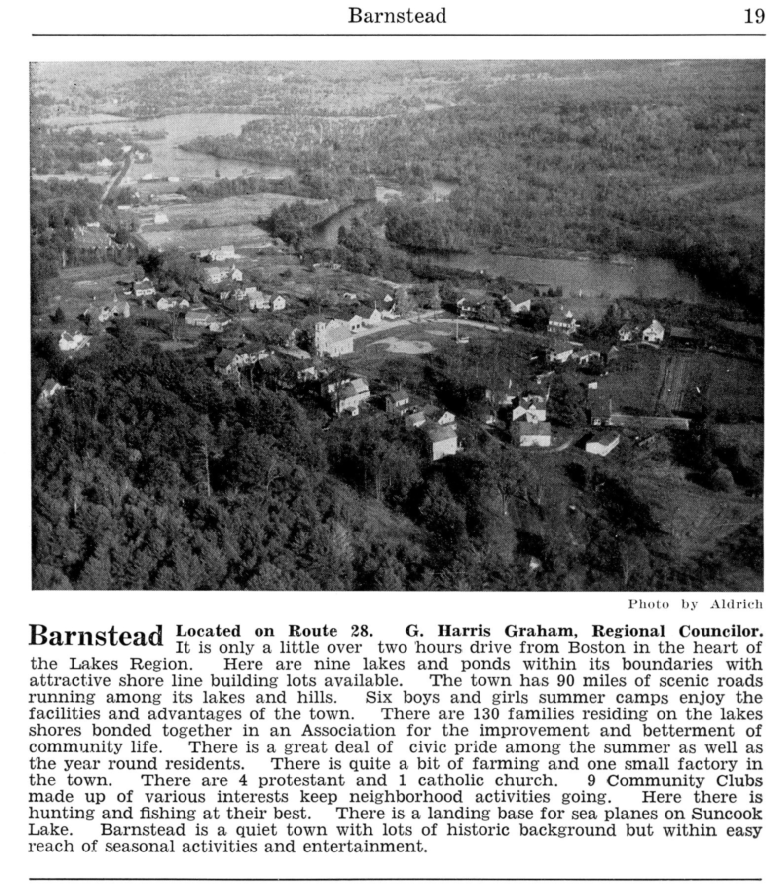 Barnstead - Lakes Region 1954