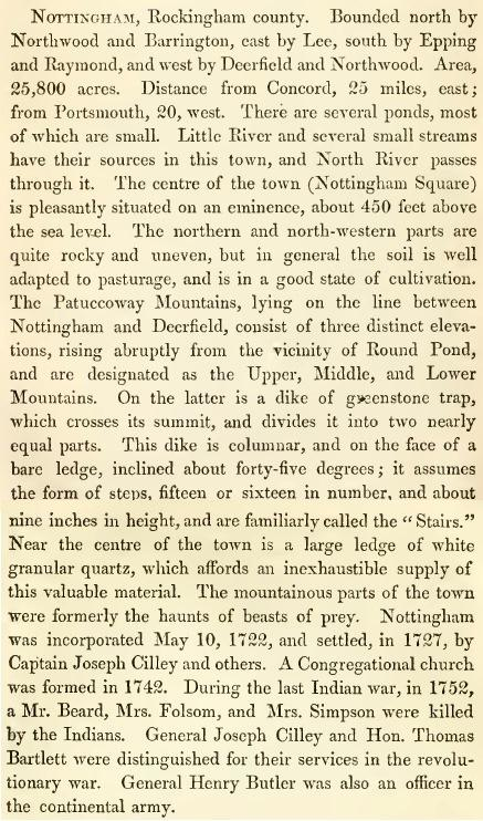Nottingham NH Incorporated May 10, 1722