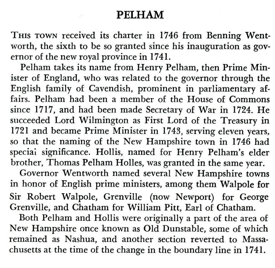 Pelham New Hampshire Town History