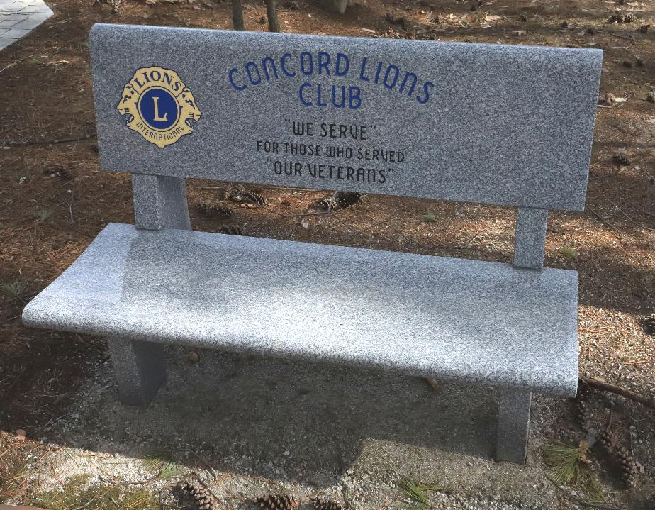 NH State Veterans Cemetery - Concord Lions Club Memorial Bench