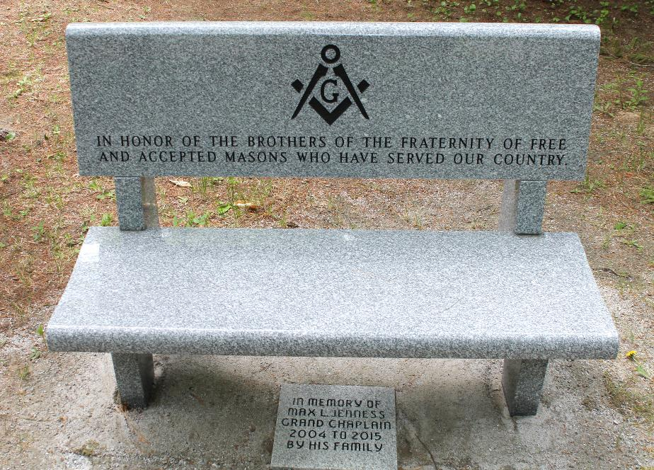 NH State Veterans Cemetery - Fraternity of Free Masons Veterans Bench