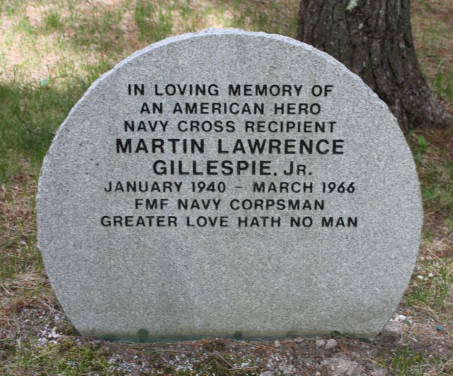 NH State Veterans Cemetery Martin Lawrence Gillespie Jr Memorial