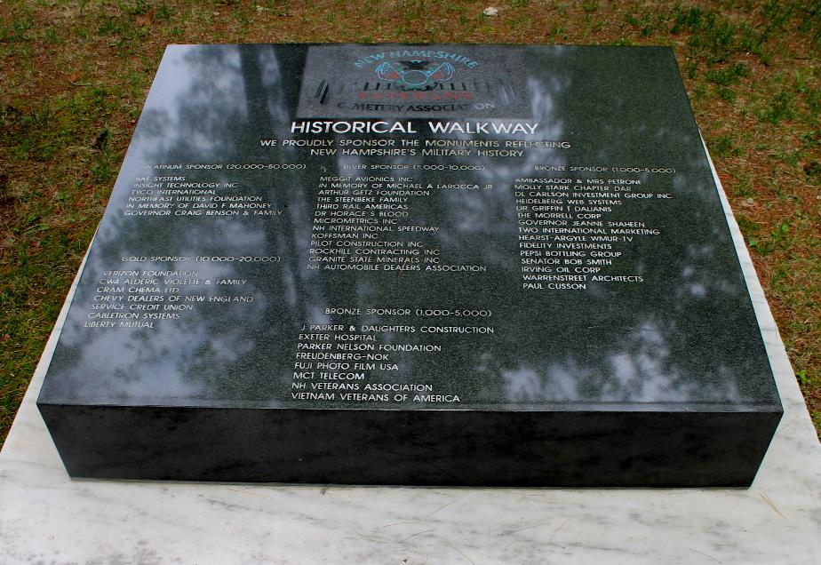 NH State Veterans Cemetery - Historic Walkway Donations