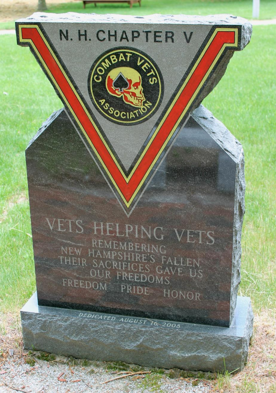 NH State Veterans Cemetery MH Combat Vets Association Memorial