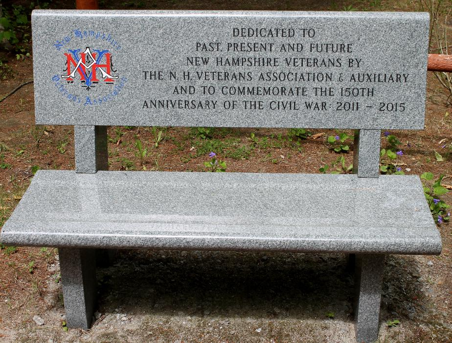 New Hampshire State Veterans Cemetery - New Hampshire Veterans Association Memorable Bench