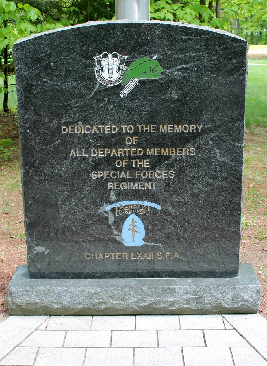 New Hampshire State Veterans Cemetery - Special Forces Regiment Memorial
