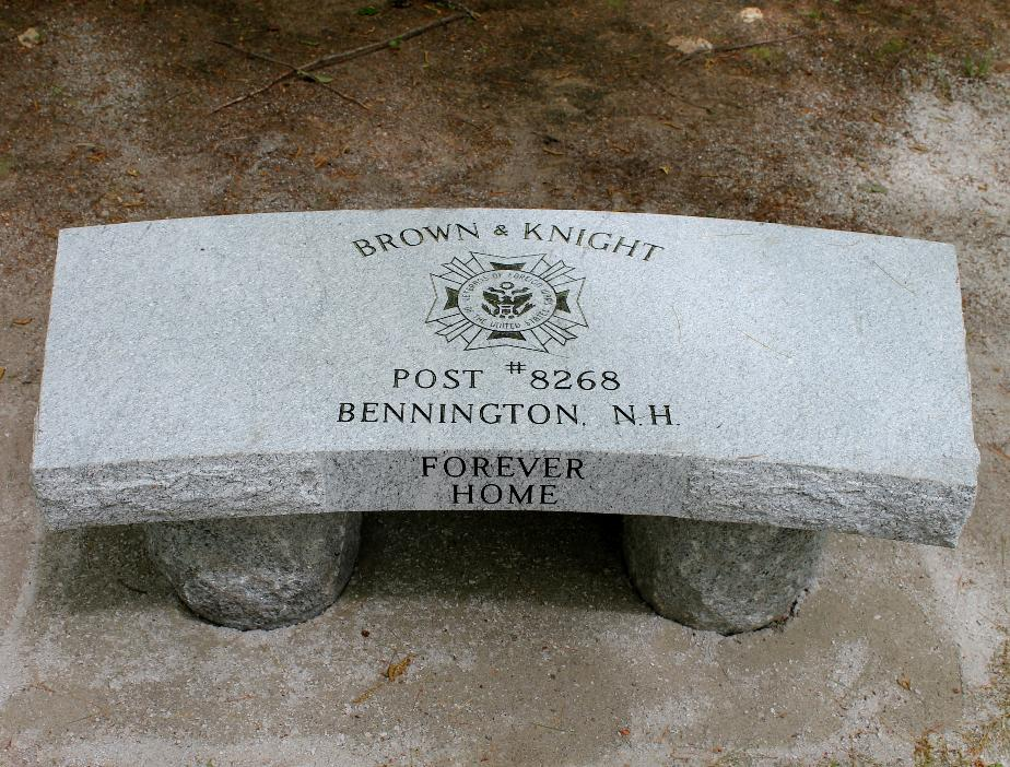 New Hampshire State Veterans Cemetery - Brown & Knight Post 8268 Memorial Bench