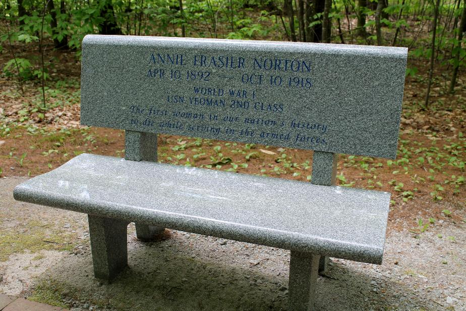 New Hampshire State Veterans Cemetery - Annie Frasier Norton USN Memorial Bench