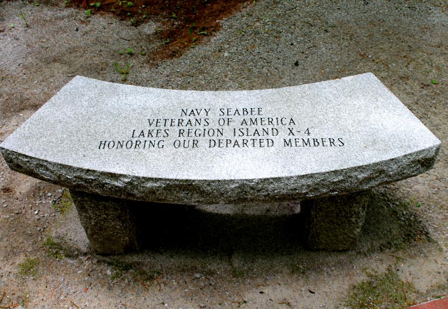 New Hampshire State Veterans Cemetery - US Navy Seabee Memorial Bench