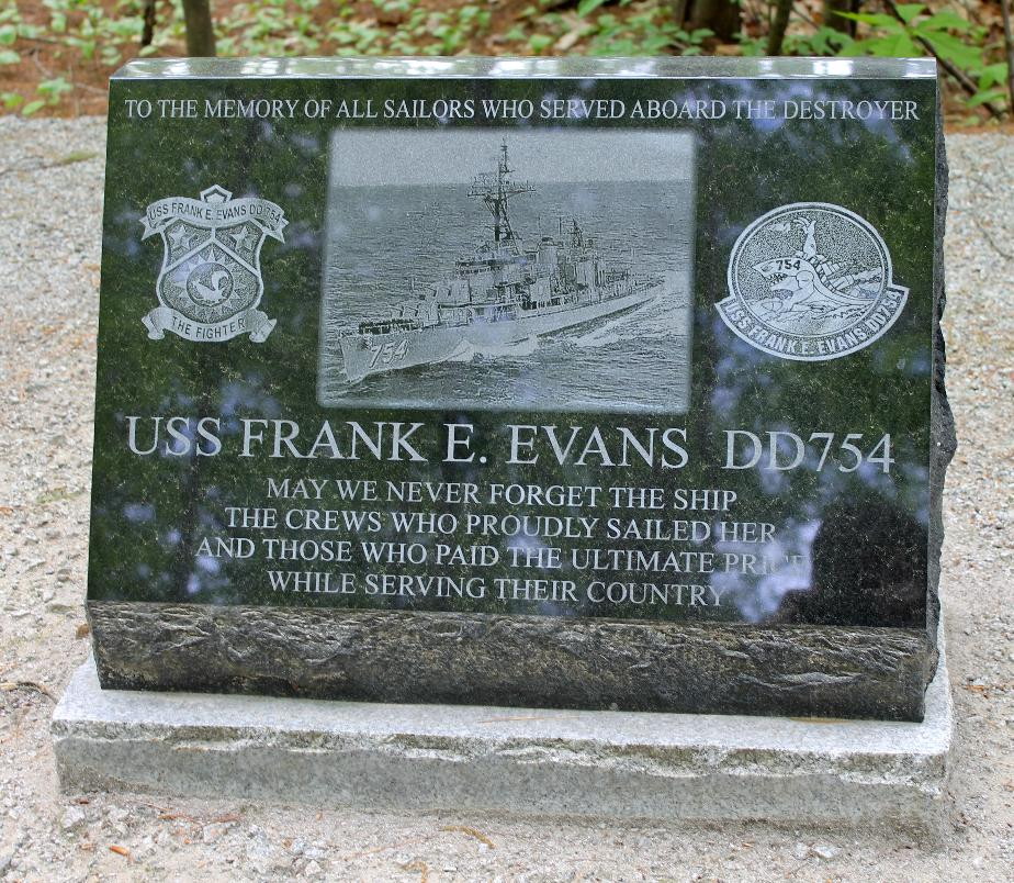 New Hampshire State Veterans Cemetery - USS Frank E Evans DD754 Memorial