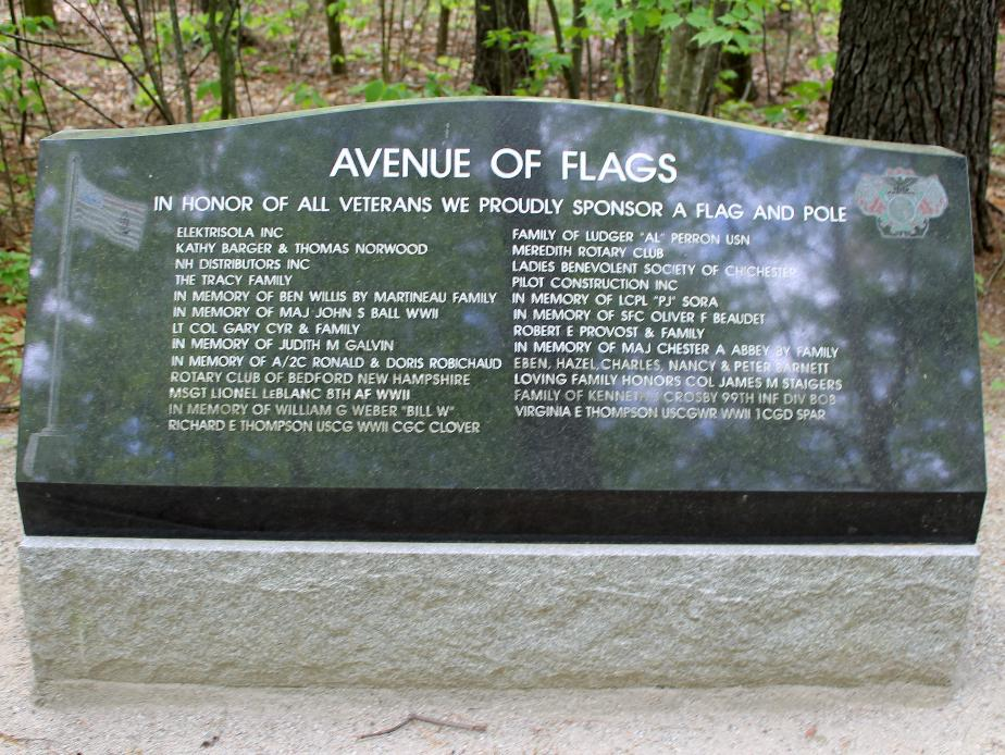 New Hampshire State Veterans Cemetery - Avenue of Flags Sonsors