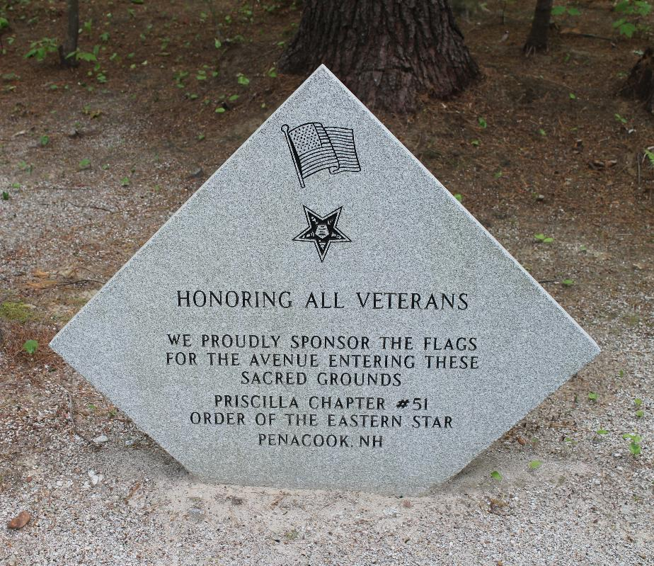 New Hampshire State Veterans Cemetery - Order of the Eastern Star Priscilla Chapter 51 Memorial