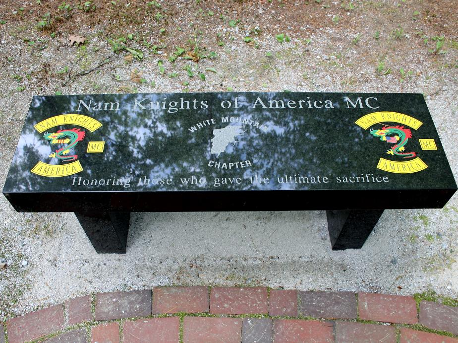 New Hampshire State Veterans Cemetery - Nam Knights of America - White Mountain Chapter Memorial Bench