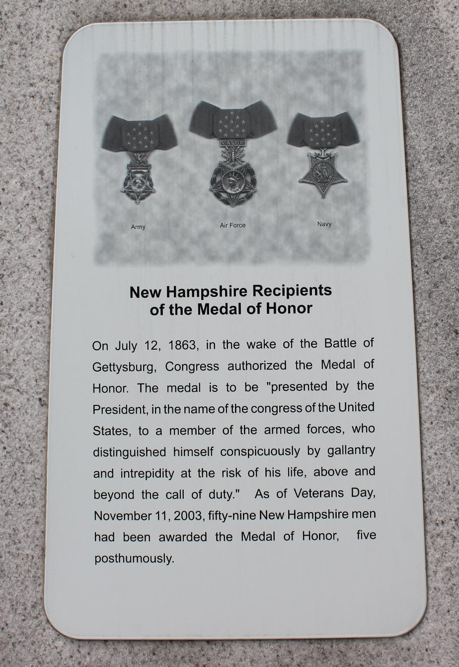 NH State Veterans Cemetery - NH Recipients of the Medal of Honor