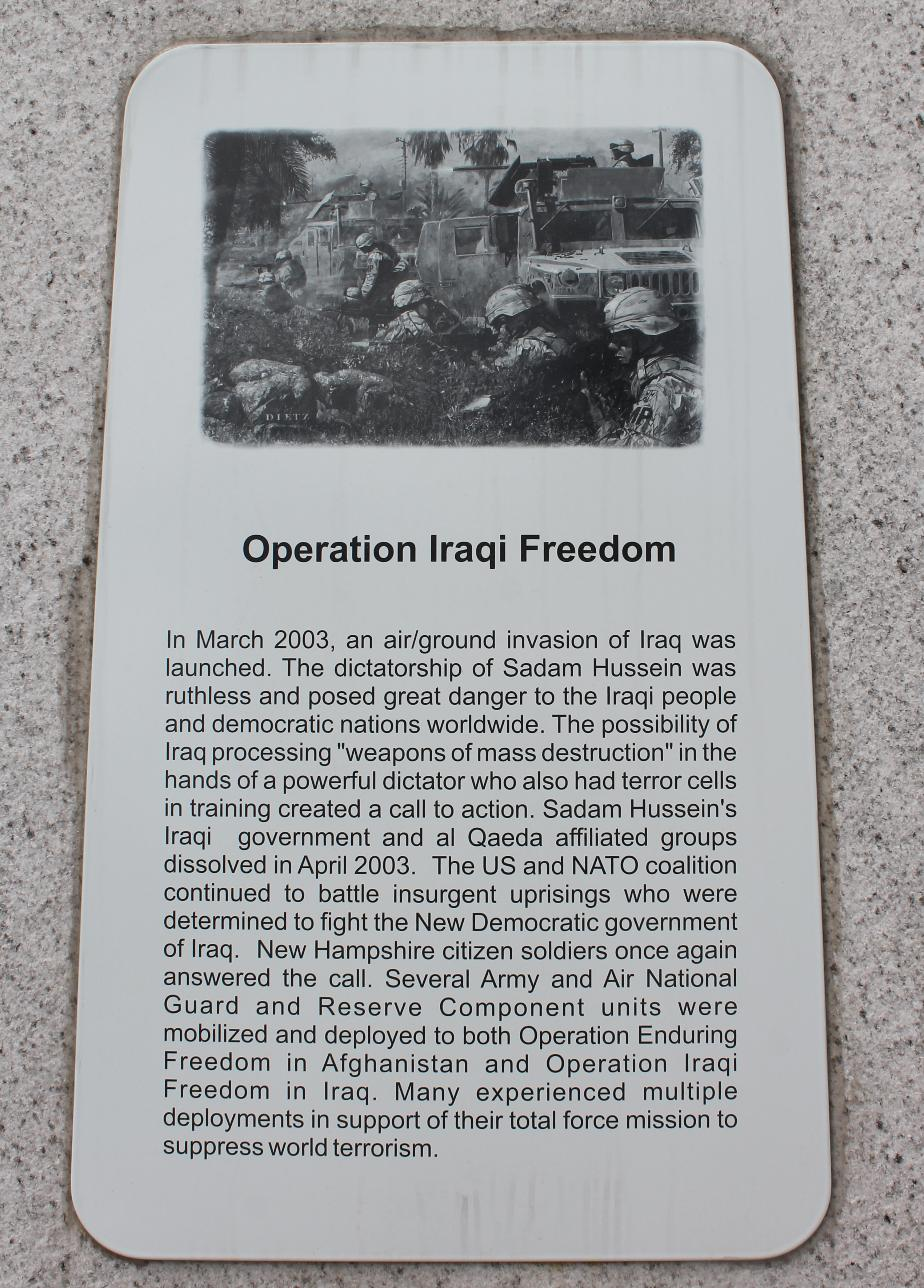 NH State Veterans Cemetery - Operation Iraqi Freedom