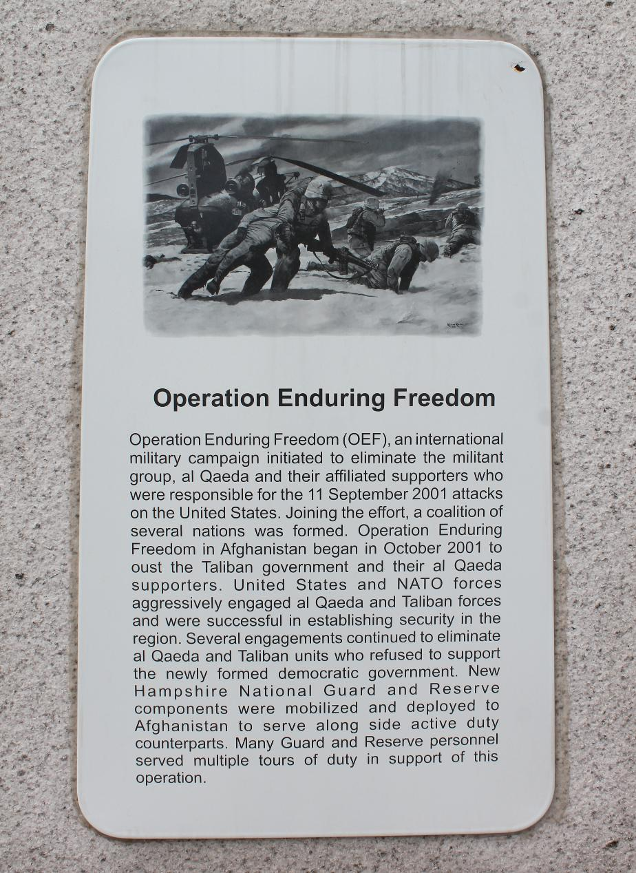 NH State Veterans Cemetery - Operation Enduring Freedom