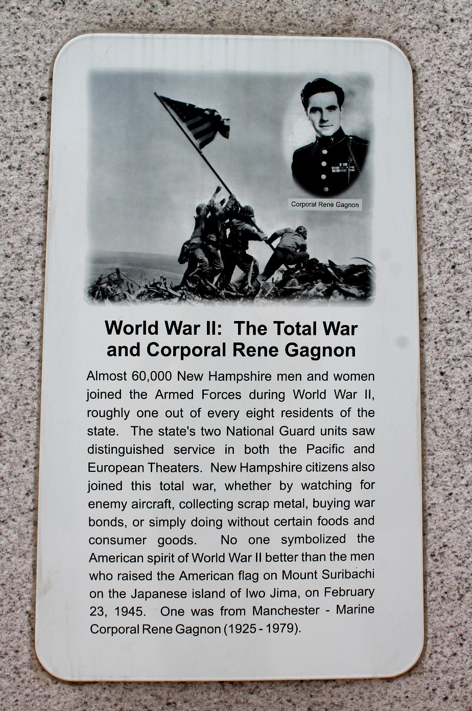 NH State Veterans Cemetery - World War II & Corporal Rene Gagnon