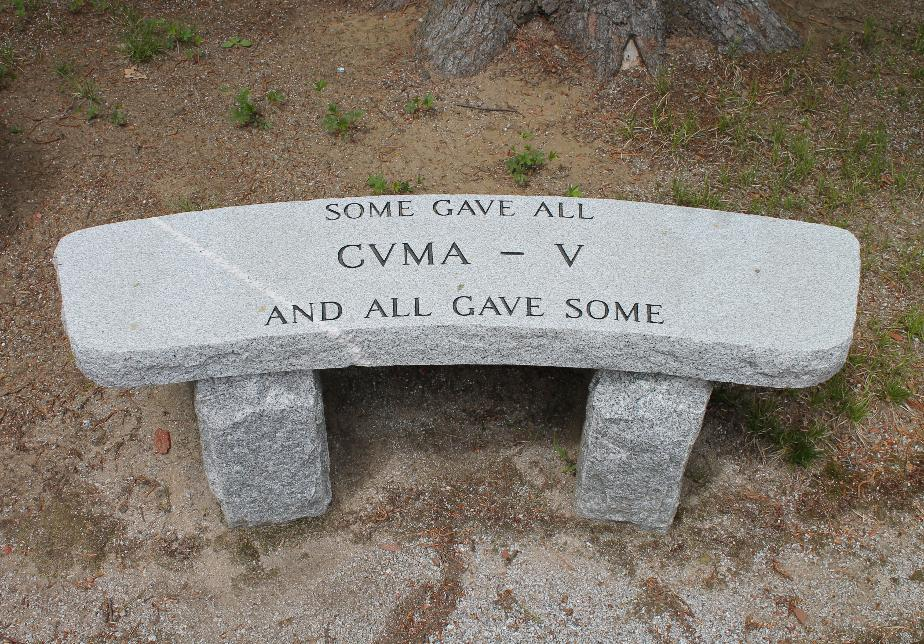 NH State Veterans Cemetery - Combat Vets Motorcycle Club Bench