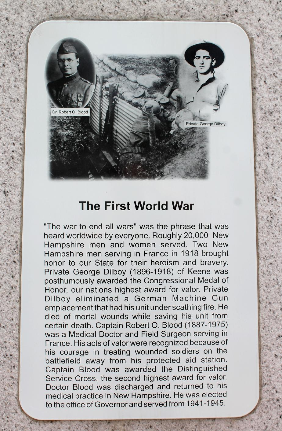 NH State Veterans Cemetery - The First World War