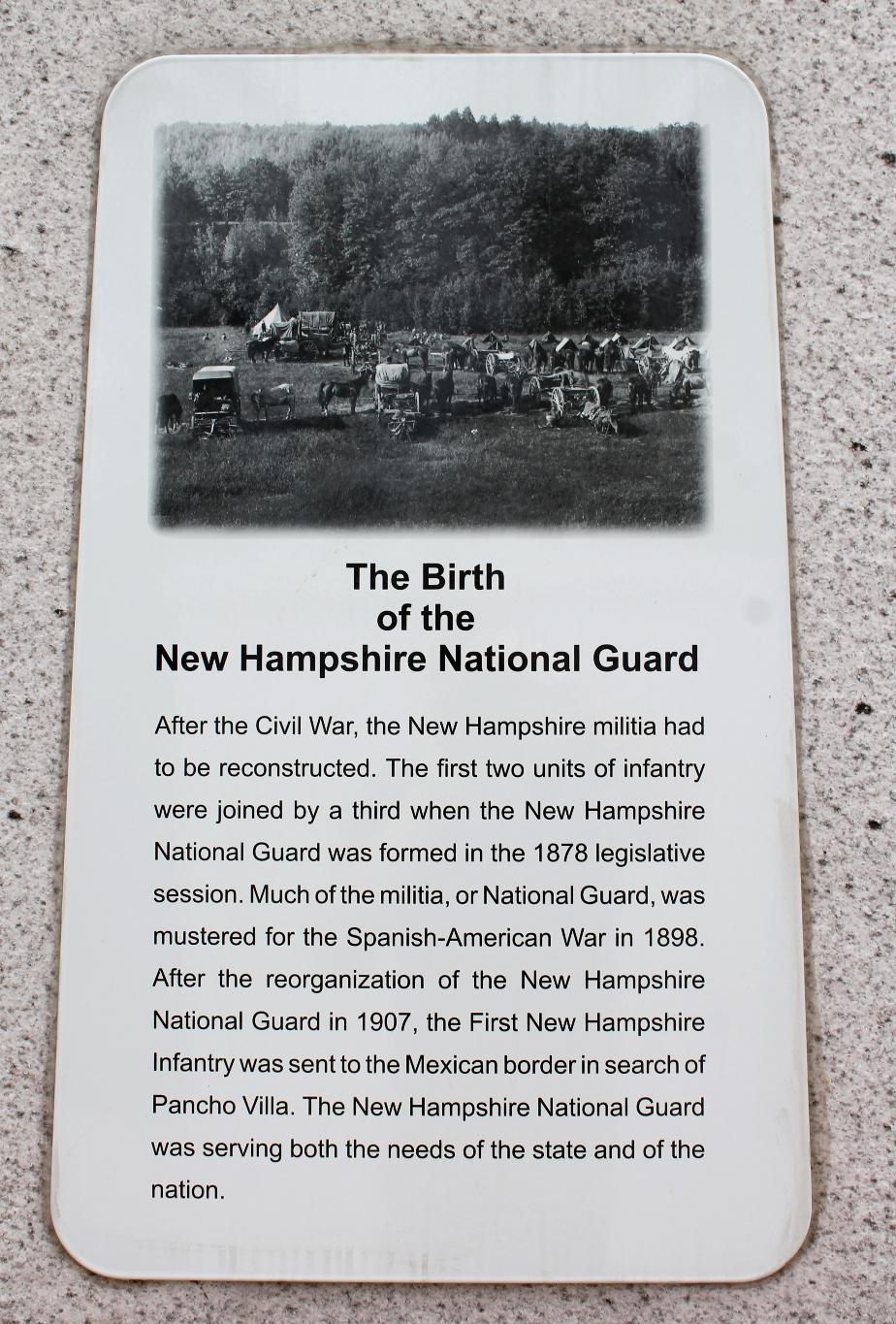 NH State Veterans Cemetery - Birth of the New Hampshire National Guard