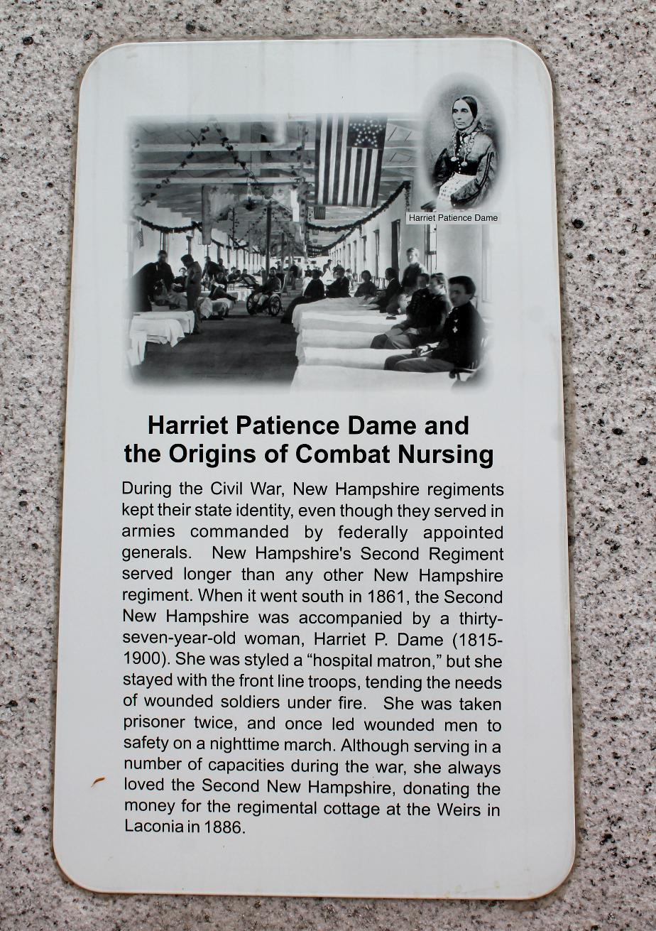 NH State Veterans Cemetery - Harriet Patience Dame & the Birth of Combat Nursing