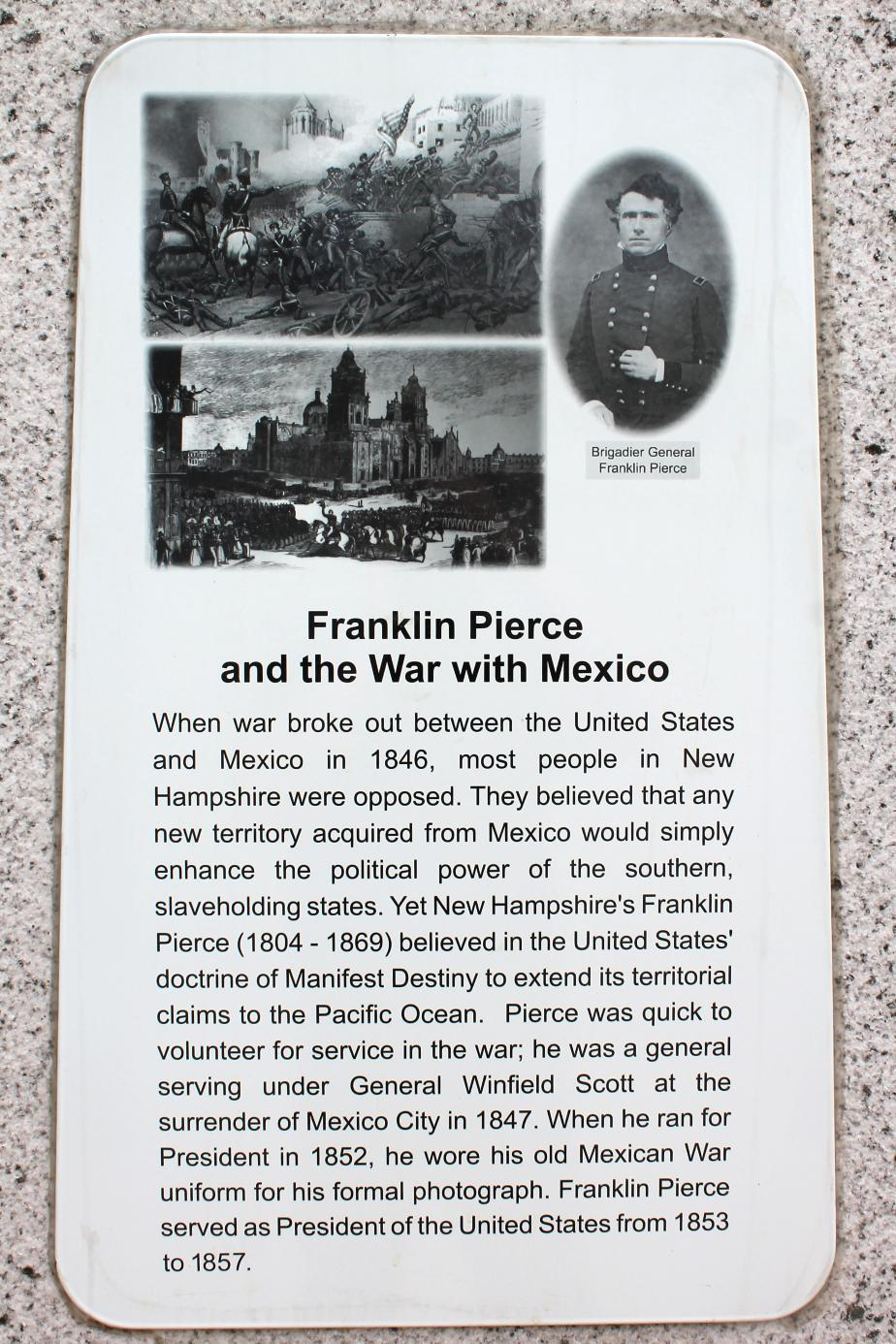NH State Veterans Cemetery - Franklin Pierce & the War with Mexico