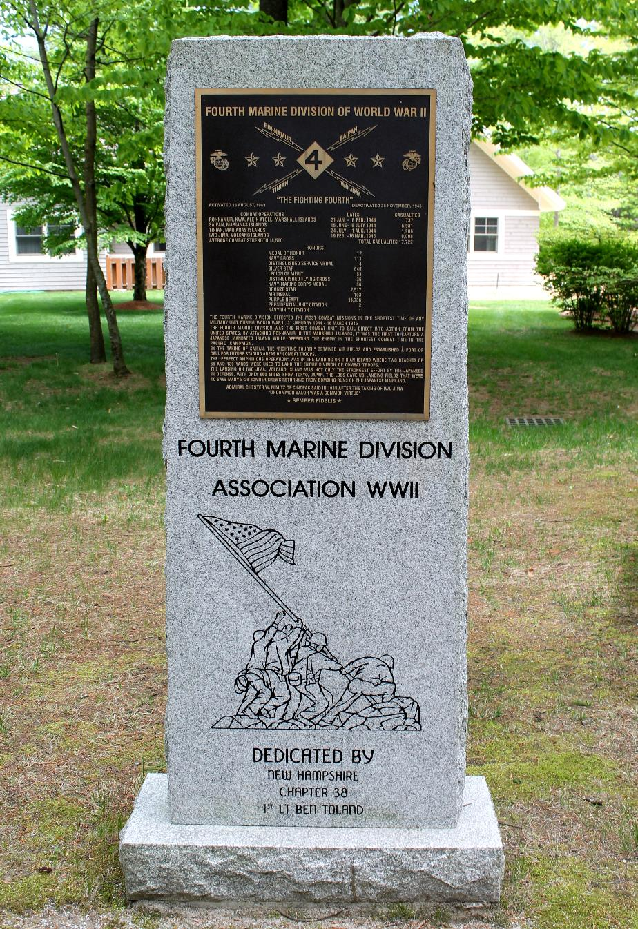 NH State Veterans Cemetery Fourth Marine Division Memorial