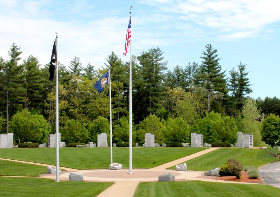 NH State Veterans Cemetery - The Circle of Flags
