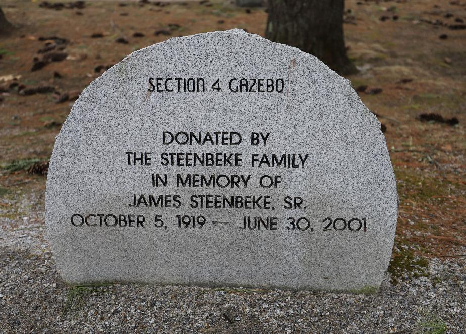 New Hampshire State Veterans Cemetery - #7 Section 4 Gazebo Donation - James Steenbeke