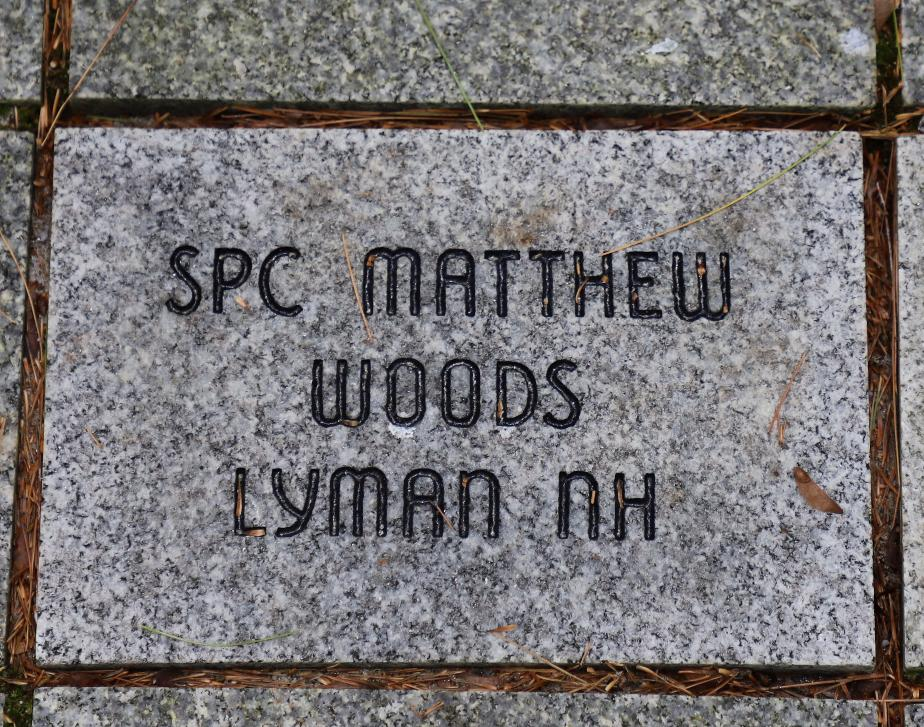 NH State Veterans Cemetery - Gold Star Families Memorial - SPC Matthew Woods Lyman NH