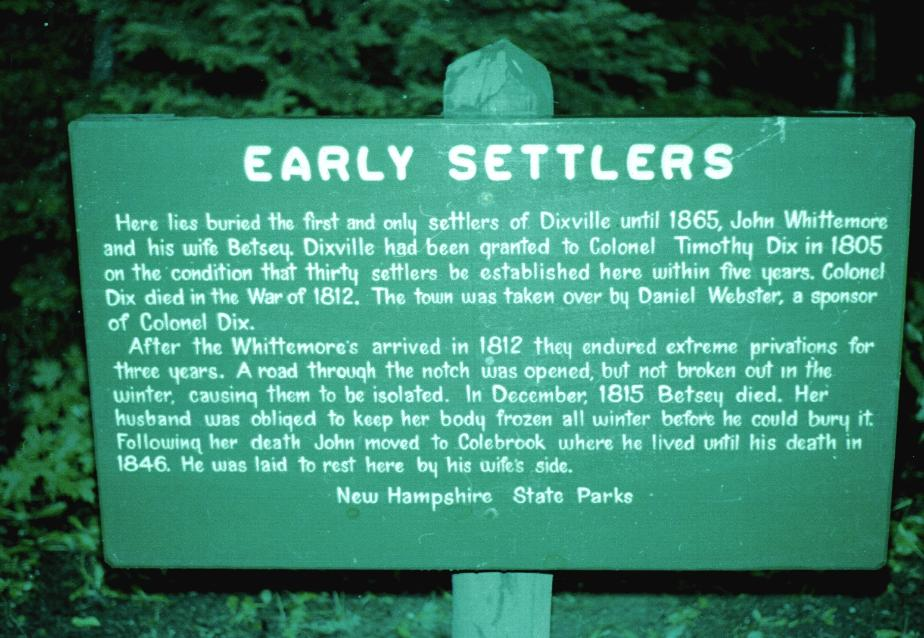 Dixville Notch Settlers