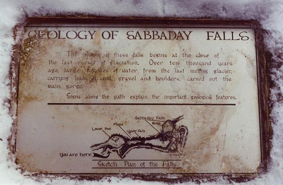Geology of Sabbaday Falls