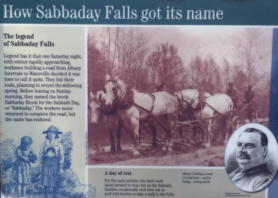 Sabbaday Falls Name