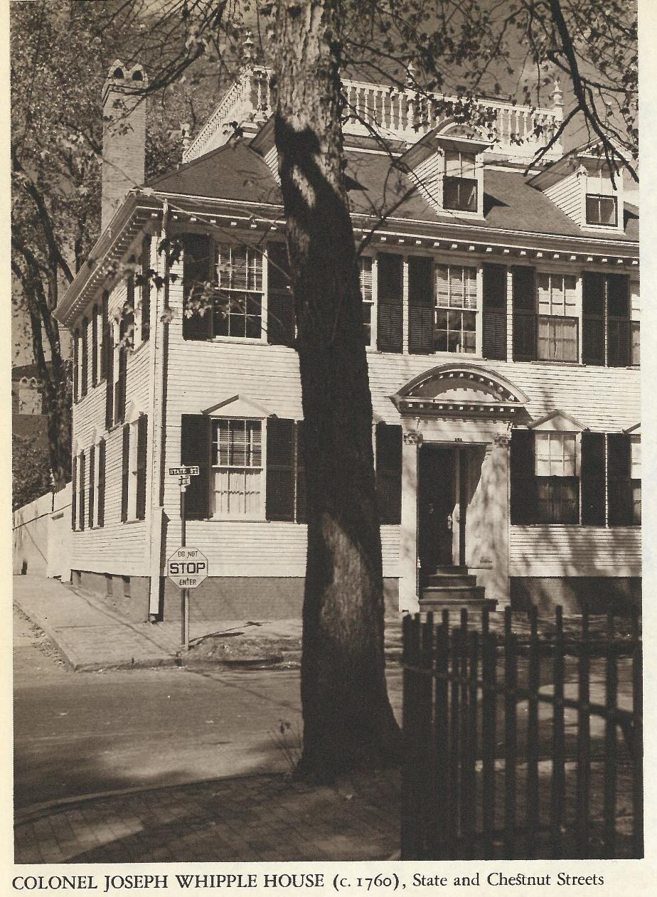 Colonel Joseph Whipple House, State & Chestnut St, Portsmouth NH 1940