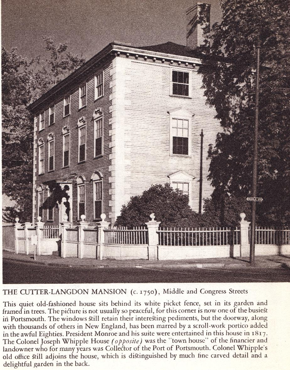 Cutter-Langdon Mansion Portsmouth NH 1940