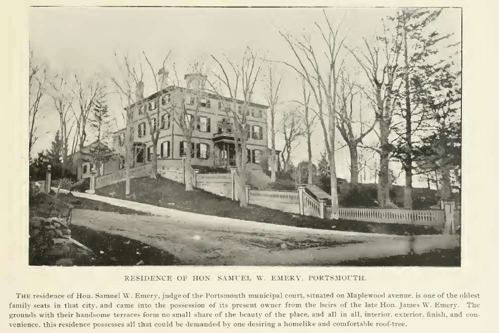 Samuel Emory Home, Maplewood Ave, Portsmouth NH, 1895