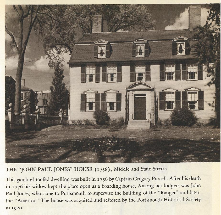 John Paul Jones House - Middle and State Street Portsmouth NH 1940