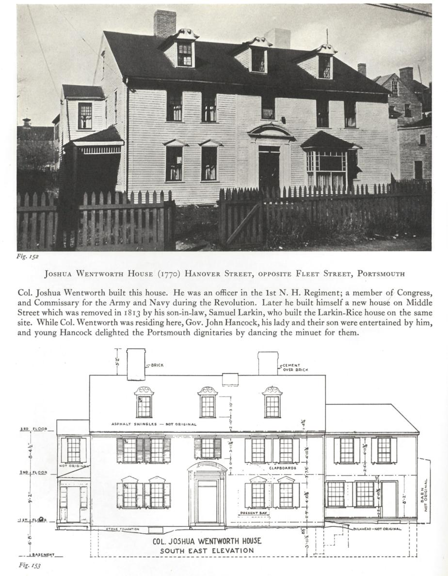 Joshua Wentworth House, Hanover Street, Portsmouth NH